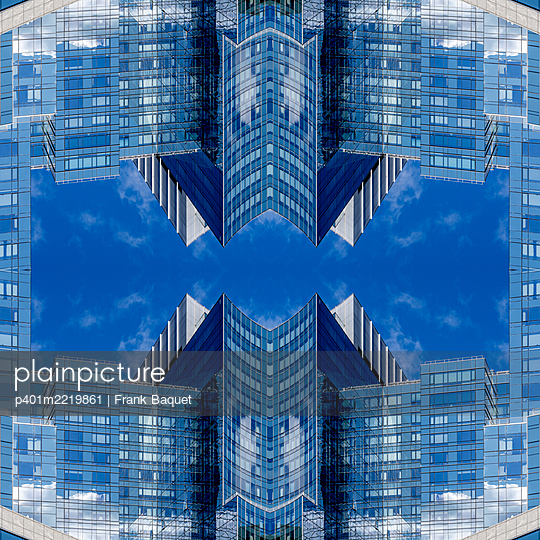 Abstract Architecture Kaleidoscope Boston - p401m2219861 by Frank Baquet