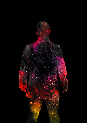 Silhouette of a male figure at night - p1280m2278676 by Dave Wall