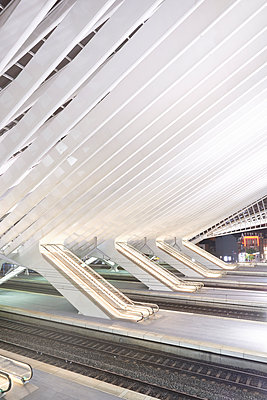 Moving stairs railway station Liège-Guillemins - p587m1155050 by Spitta + Hellwig