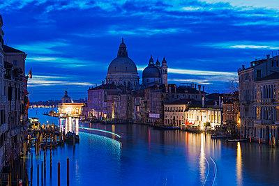 Europe, Italy, Veneto, Venice, Basilica di Santa Maria della Salute on the Grande Canal - p651m1005681 by Christian Kober