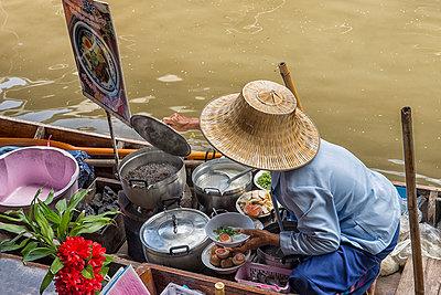 Floating market  - p1445m2122547 by Eugenia Kyriakopoulou
