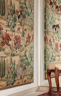 Interior with horses - p1514m2109301 by geraldinehaas