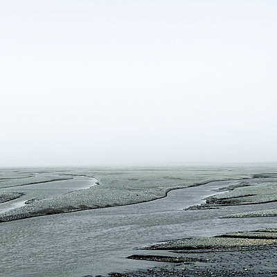 Mouth of the river in the fog, Iceland - p1624m2195916 by Gabriela Torres Ruiz