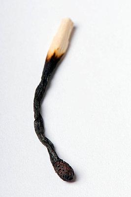 Burnt matches - p4510881 by Anja Weber-Decker