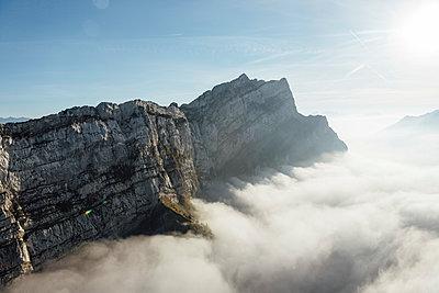 Switzerland, mountains and fog - p300m2062233 by letizia haessig photography