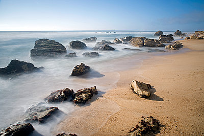 Rocks on the seashore - p589m1185271 by Thierry Beauvir