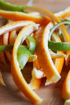 Close up of citrus peels - p429m757550f by Danielle Wood
